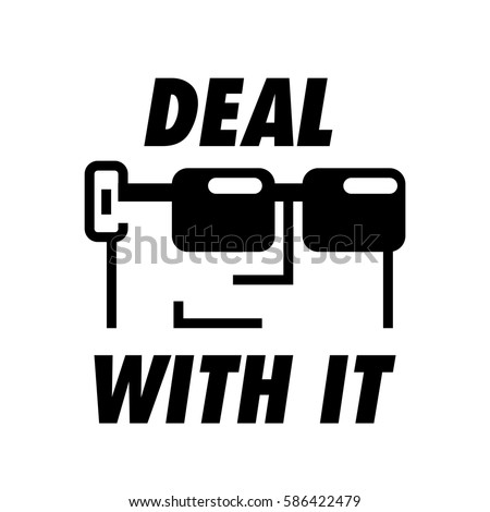 deal with it guy wearing
