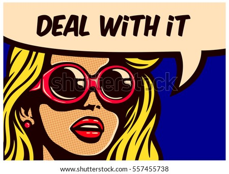 deal with it  vintage pop art