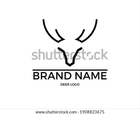 Dear Based Logo Concept    Branding Logo    Deer Сток-фото ©