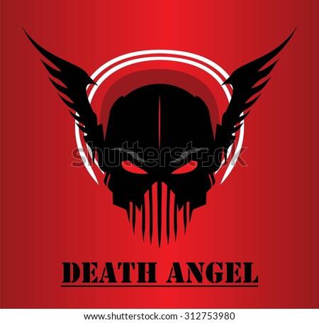 death angel winged black mask