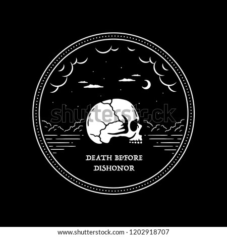 death before dishonor skull in