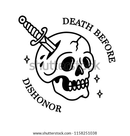 death before dishonor skull