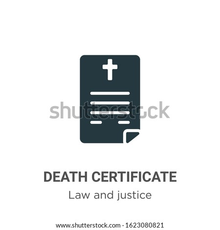 death certificate glyph icon