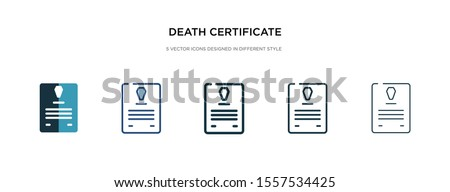 death certificate icon in