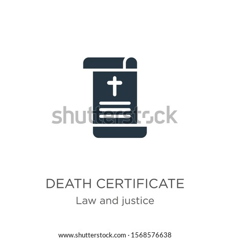 death certificate icon vector