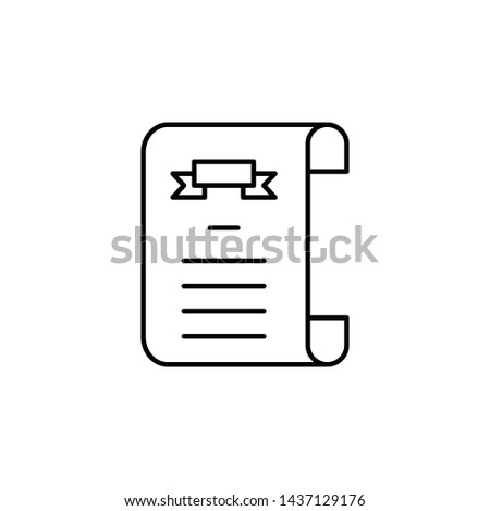 death certificate outline icon