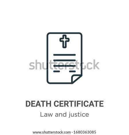 death certificate outline