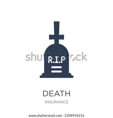 death icon trendy flat vector