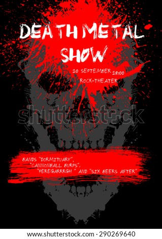 death metal show poster with