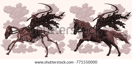 death on horseback design set