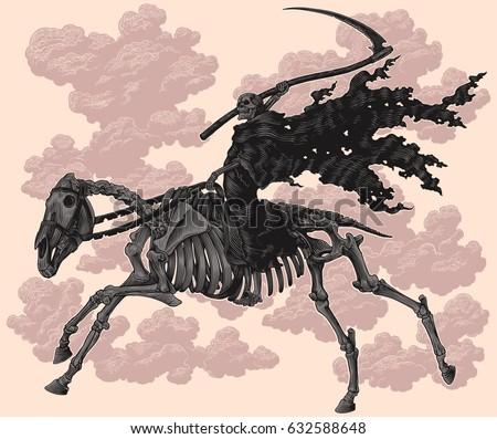 death on horseback skeleton
