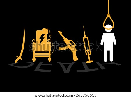 death penalty concept image of