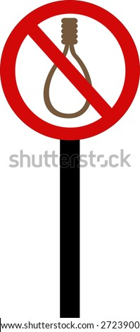 Death Penalty executions forbidden sign