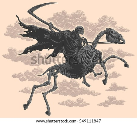 death rides a horse hand drawn