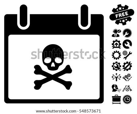 death skull calendar day