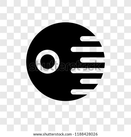 death star vector icon isolated