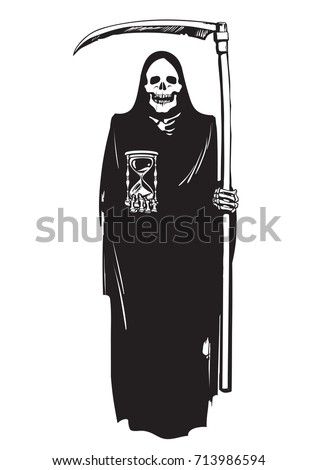 death with hourglass and scythe