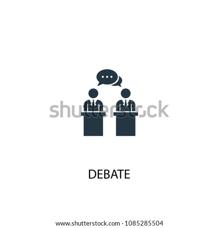 debate icon. Simple element illustration. debate concept symbol design from Elections collection. Can be used for web and mobile.