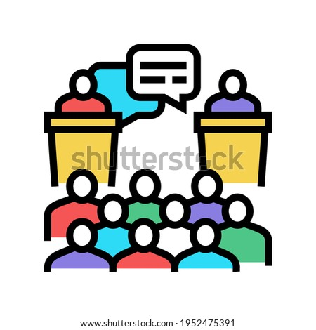 debate on forum color icon vector. debate on forum sign. isolated symbol illustration Photo stock ©