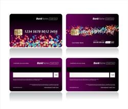 Debit card, Credit card, ATM card or Privilege card vector template design.