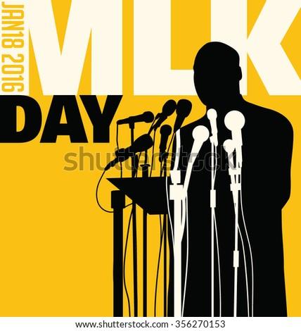 ... , 2016. Illustration of Martin Luther King, Jr. to celebrate MLK day