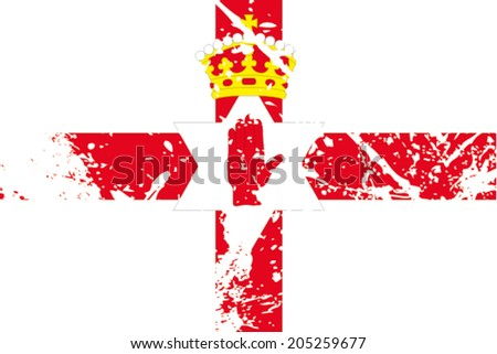 decayed flag of northern ireland