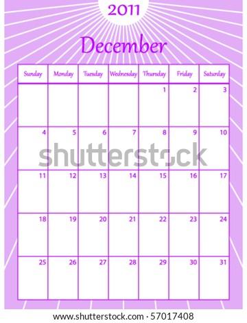 december calendar. December 2011 Calendar