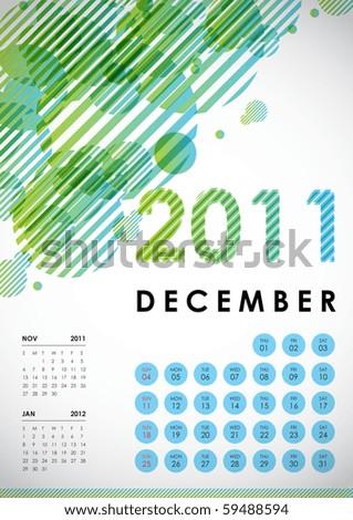 december calendar. December - Calendar Design