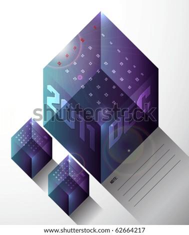 December - Calendar Design 2011 - stock vector