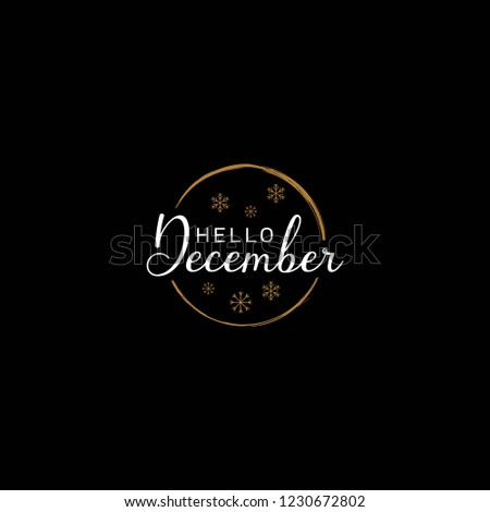 december design template, welcome december