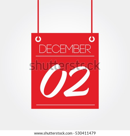 December 2 - hanging calendar