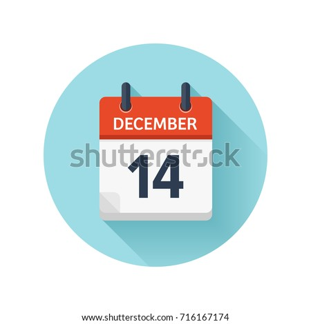 december 14 vector flat daily