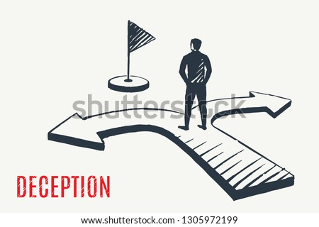 deception a man stands on the