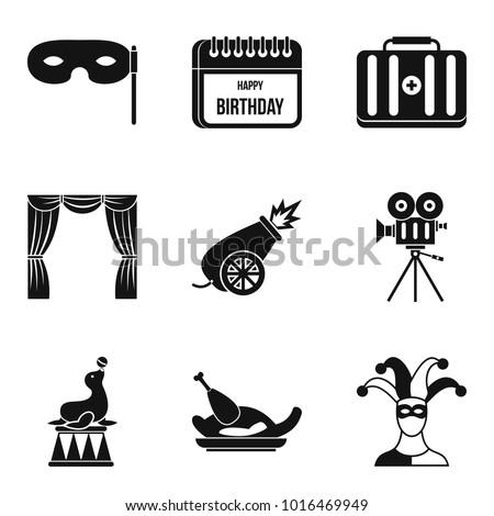 deception icons set simple set