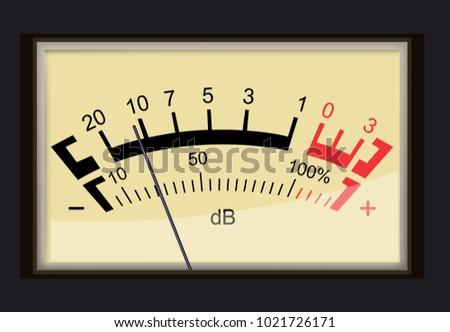 Decibel gauge concept Stock photo ©
