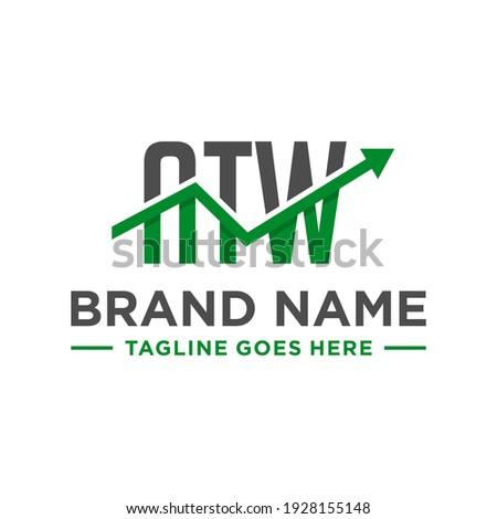 decimal financial logo design with letter ATW Zdjęcia stock ©