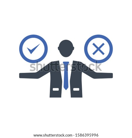 Decision, Choice icon, Vector graphics