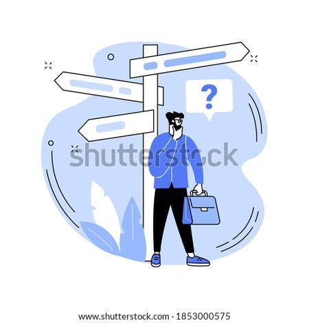 Decision making abstract concept vector illustration. Problem solving skill, leadership, decision-making framework, tree analysis, rational approach, business management abstract metaphor.