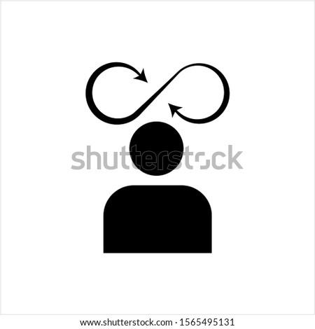 Decision Making, Business Decision Icon, Vector Art Illustration