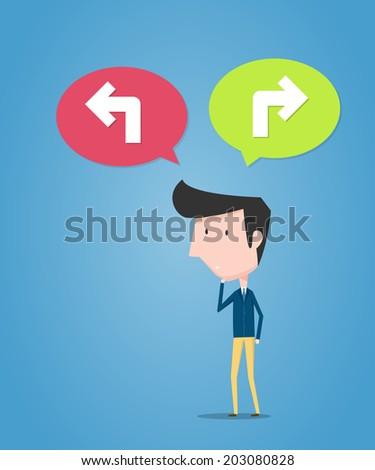 Decision of businessman. Business concept