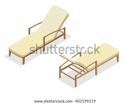 Vector free vectors download 4vector for Beach chaise longue