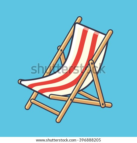 deck chair icon on a blue