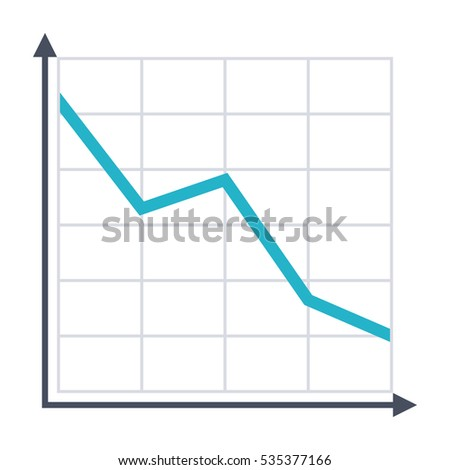 Decline chart simple icon in flat style