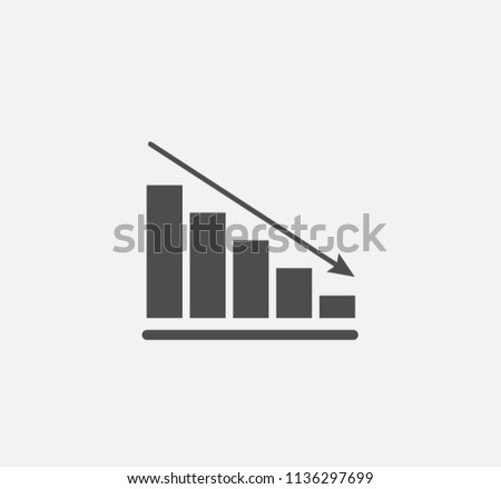 Decline diagram icon . Vector