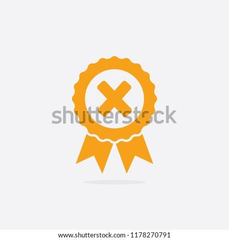 Declined or Uncertified Medal Icon