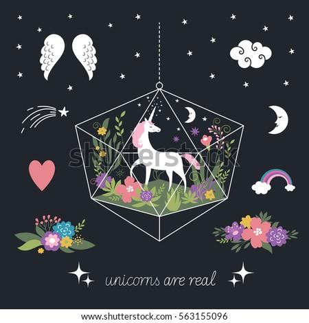 decor elements  unicorns