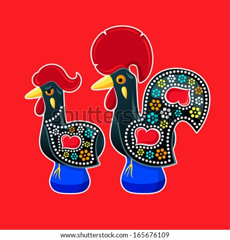 decorated barcelos rooster and