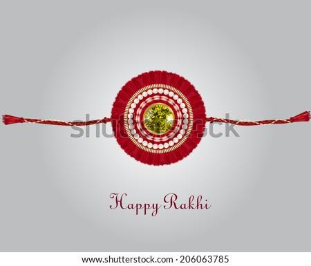 Decorated rakhi for Raksha Bandhan