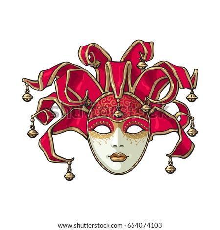 decorated venetian carnival ...