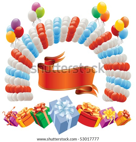 Decoration for birthday and party - design elements
